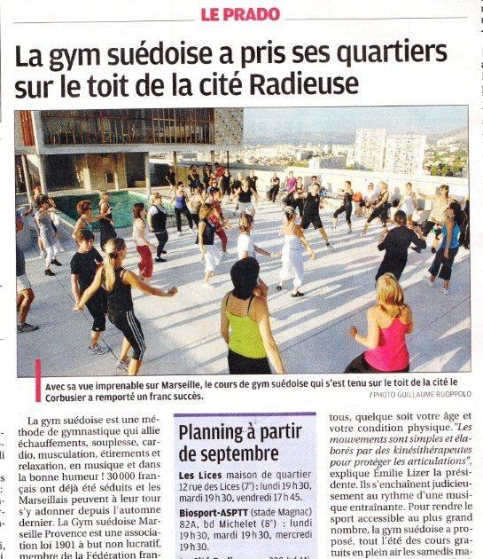 La gym su doise dans le journal la provence - Le journal de la provence ...