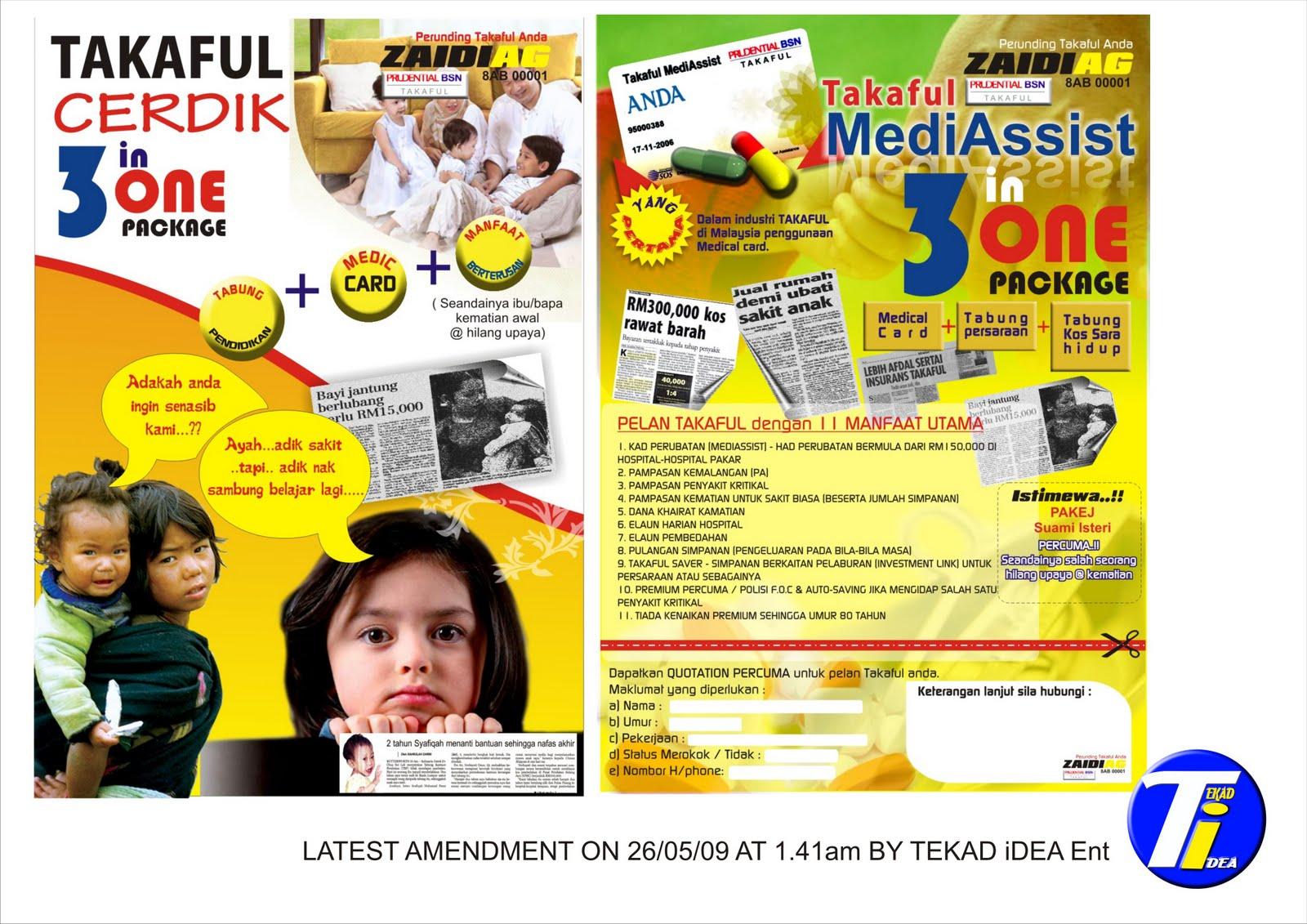 di sini ada beberapa contoh flyers prubsn takaful untuk renungan bersama