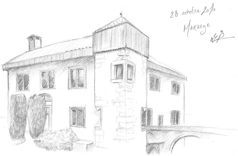 Croquis dessin maison for Croquis d une maison