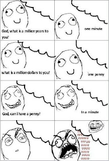 rage comics, ffffuuuu, fffuuu, god, penny, trollface god penny million minute
