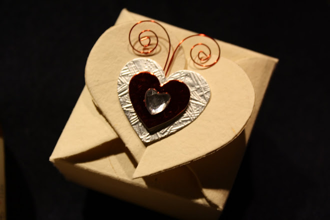 Handmade Box with Heart and Butterfly