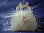 Marabou Feather Bag with Lily