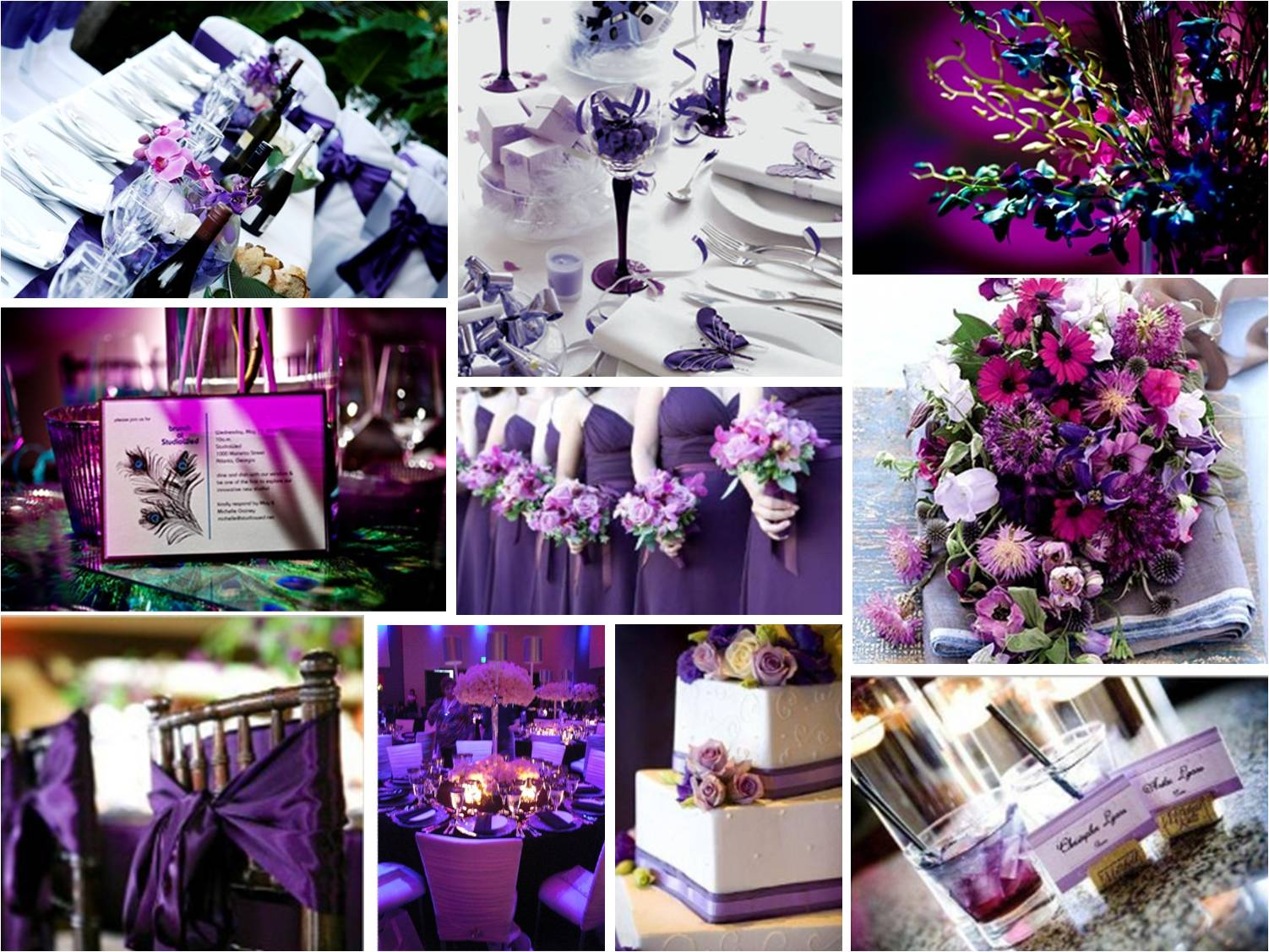 purple wedding decorations ideas pictures wedding
