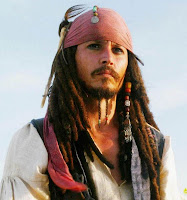 Jonny Depp as Captain Jack Sparrow