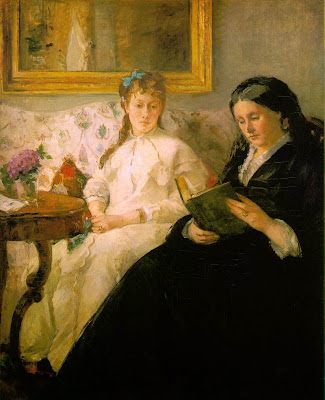 painting of two women reading