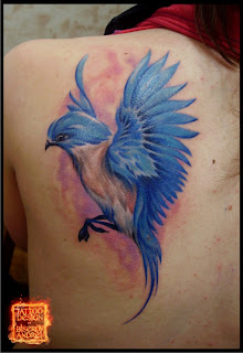 This Tattoo Of A Blue Bird Is Realistic And Really Impressive It's