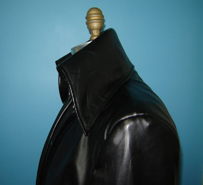 AbbyShot Sephiroth Inspired Trench Coat - Collar Closeup