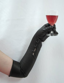 The Classic Opera Length Black Leather Hepburn Gloves