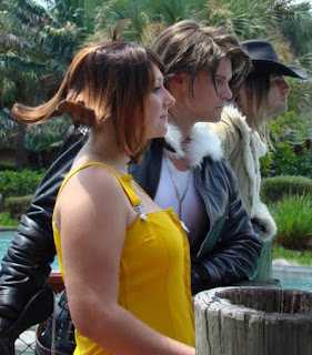 Great cosplay of Squall, Selphie, and Irvine from Final Fantasy VIII