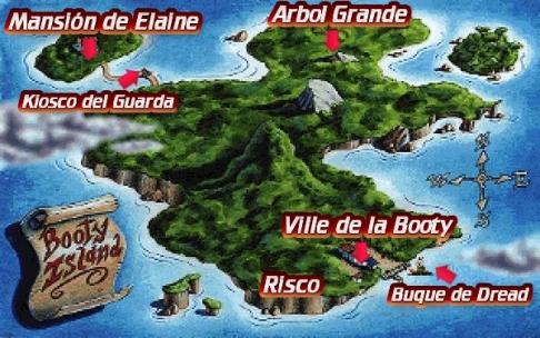 Mapa Isla Booty
