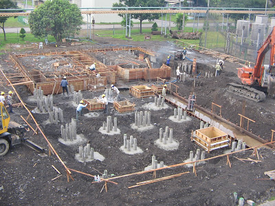 Foundation And Ground Foundation Work For A Substation