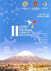 II Congreso Nacional de Psicología Clínica y Educativa