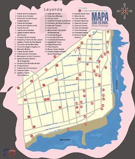 RD en fotos Mapa de la Ciudad Colonial de Santo Domingo Primada de