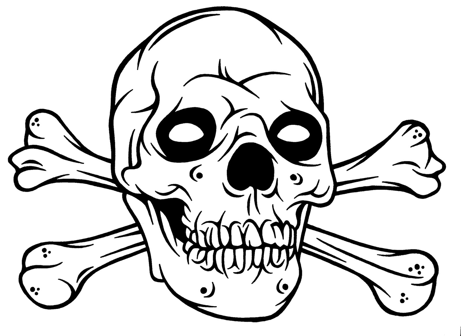 Printable Sugar Skull Coloring Pages Funny Htm Colouring