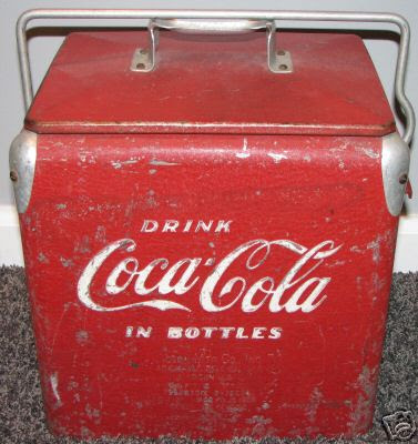 everything classic collectible vintage and antique coca cola collectibles portable cooler. Black Bedroom Furniture Sets. Home Design Ideas