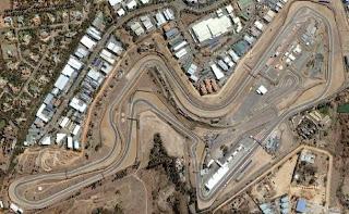 Foto aérea do circuito de Kyalami