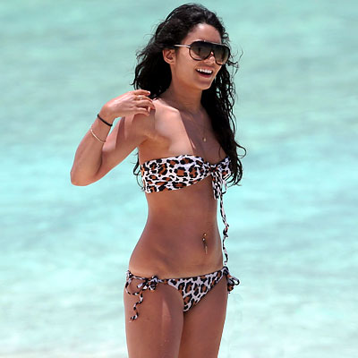 vanessa hudgens on the beach