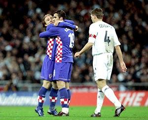 Festa croata em Wembley: Inglaterra fora da Euro 2008