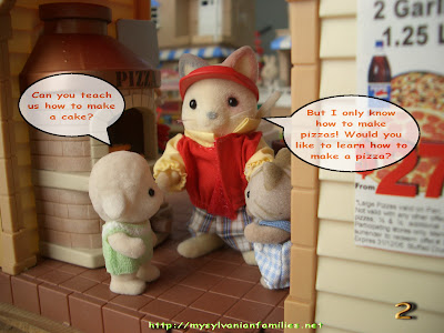 sylvanian families pizza shop