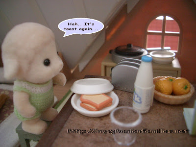 Sylvanian Families Story - Sheepie did not want toast for his breakfast.