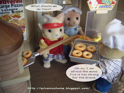 sylvanian families pizza delivery