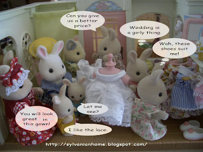 sylvanian families wedding dress