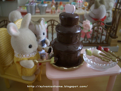 sylvanian families chocolate fountain