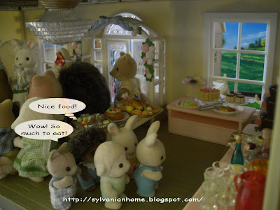 Sylvanian families wedding buffet