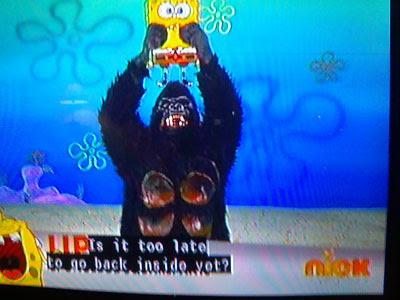 Millions of monkeys gorilla on spongebob