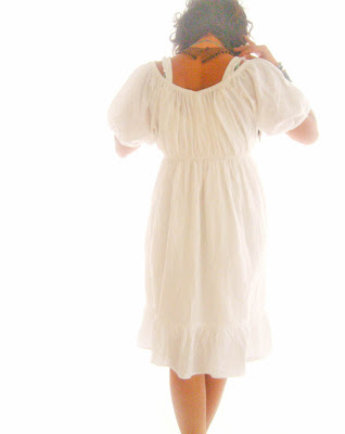 White Peasant Dress on Peasant Ethnic White Cotton Ruffle Dress Spanish Style Mexican Dress