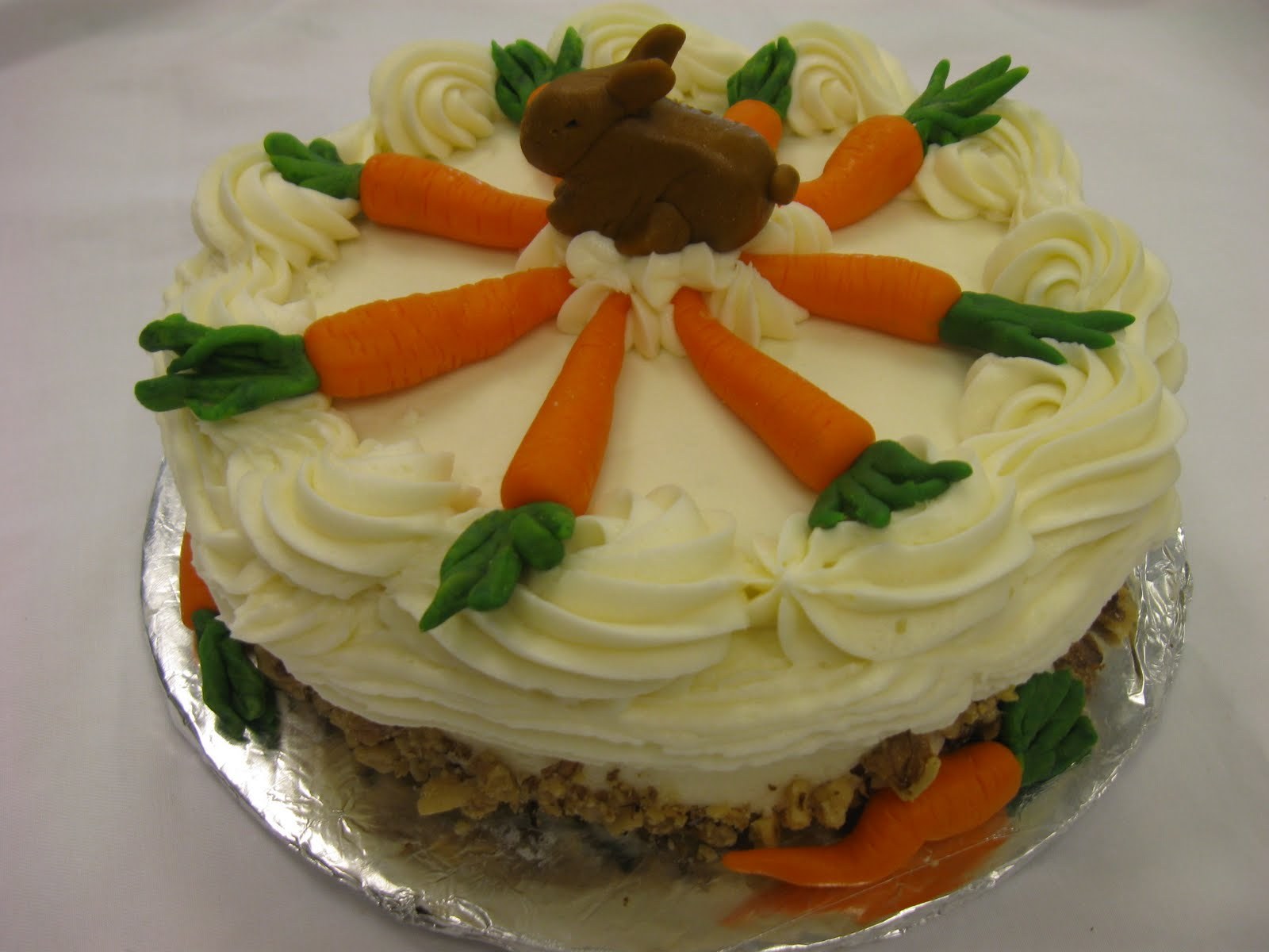 ... marzipan carrots are a clue) - carrot cake with cream cheese frosting