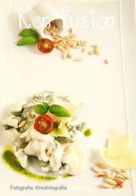 Pasta queso italiano pinones