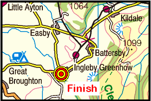 Map of the Ingleby Greenhow area
