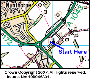 Map of the Nunthorpe Church area