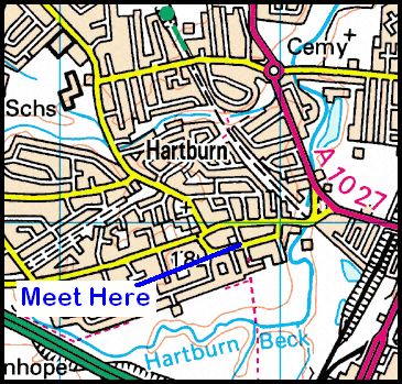 Map of Hartburn Village area