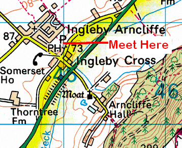 Map of Ingleby Cross Area