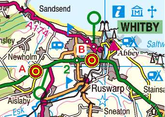 Map of the Selly Hill to Flask Inn area