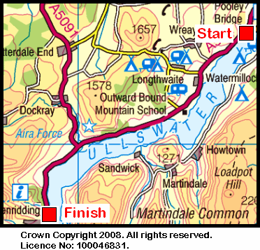 Map of the Ullswater area