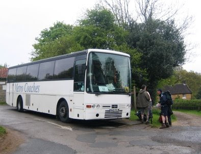 Arriving at the coach in Lealholm