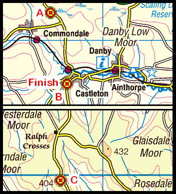Map of the Brown Hill - Castleton area
