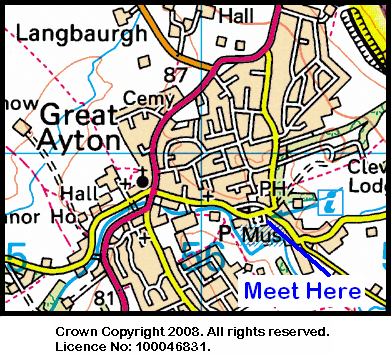 Map of Great Ayton Tourist Information Centre