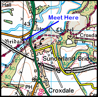Map of Sunderland Bridge Area
