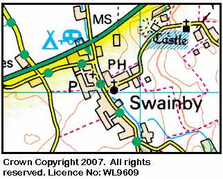 Map of the Swainby area