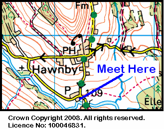 Map of the Hawnby area