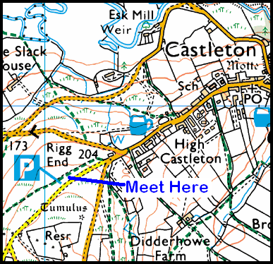 Map of the Rigg End Car Park area