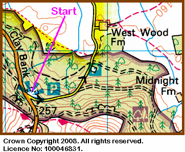Map of the Clay Bank area