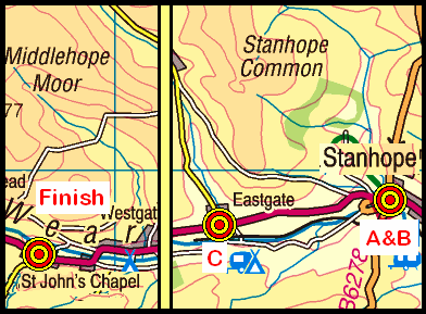 Map of the St John's Chapel area