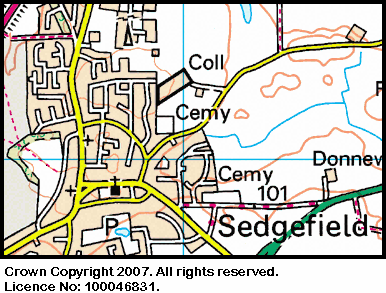 Map of the Sedgefield Church area