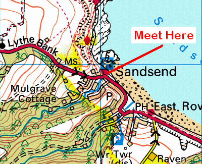 Map of the Lythe Bank area
