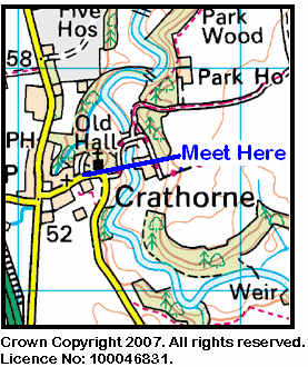 Map of the Crathorne area